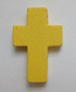 Petite croix jaune. Lot de 6