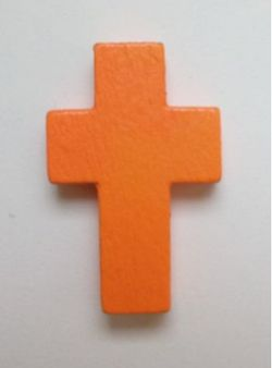 Petite croix orange. Lot de 6.