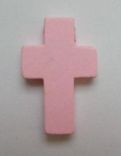 Petite croix rose. Lot de 6.