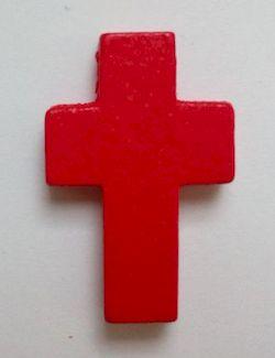 Petite croix rouge. Lot de 6.