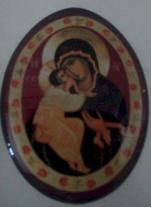 Icône autocollante Vierge à l'Enfant