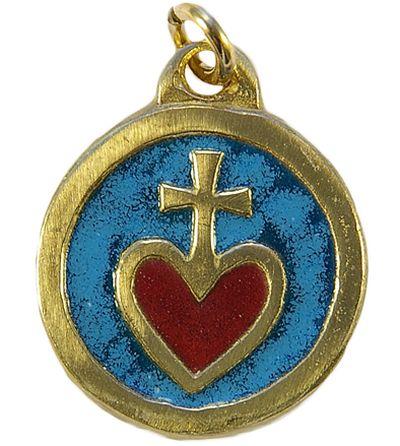 Médaille Sacré Coeur bleue