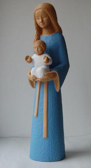 Statue Yves le Pape. Marie mère des familles. Hauteur: 38 cm.