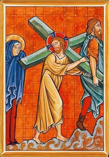Icône du Portement de la Croix. Disponible en 3 tailles