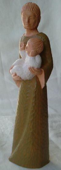 Statue Yves le Pape. Saint Joseph. Hauteur 30 cm.
