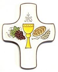 Croix céramique communion.