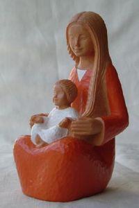 Statue Yves le Pape Marie de la Sagesse. Hauteur: 16 cm.