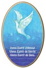Cadre bois Maïte Roche avec impression fond bleu.
