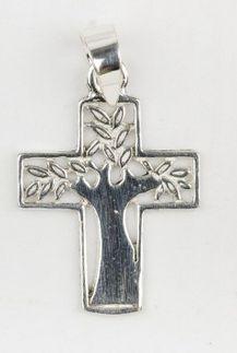 Croix arbre argent