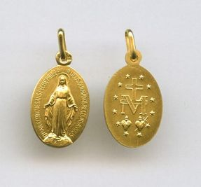 Médaille miraculeuse, plaqué or