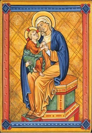 Icône  Vierge à l'Enfant.  Disponible en 3 tailles.