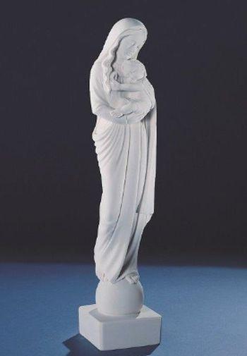 Vierge  à l'Enfant. 45 cm. Marbre reconstitué