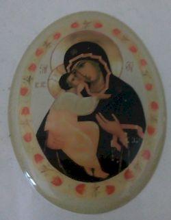 Icône autocollante Vierge à l'Enfant lot de 5