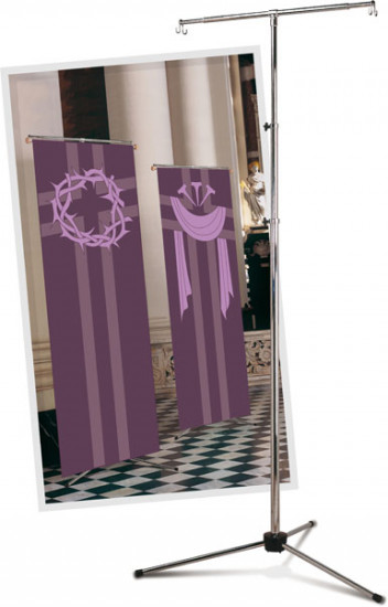 Support bannièreou tapisserie