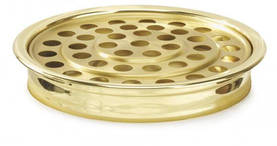 Plateau alu doré pour 40 verres.