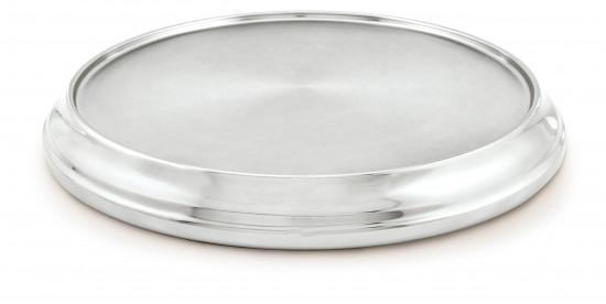 Base alu argenté diamètre 32cm.
