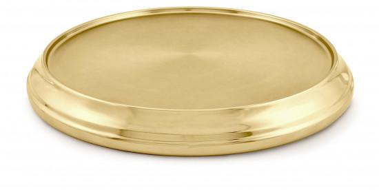 Base alu doré diamètre 32cm.