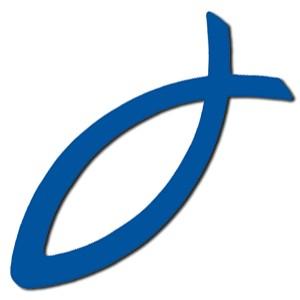 Autocollant : Ichtus bleu