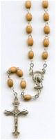 Chapelet bois, perles 7 mm