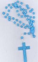 Chapelets plastiques bleus Lot de 25