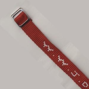 Bracelet tissé W.W.J.D. rouge