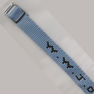 Bracelet tissé W.W.J.D. bleu ciel