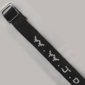 Bracelet tissé W.W.J.D. noir