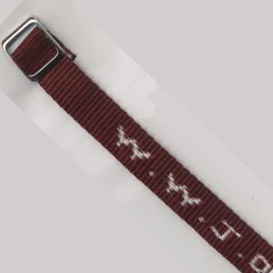 Bracelet tissé W.W.J.D. bordeaux