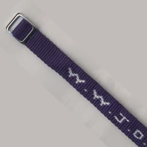 Bracelet tissé W.W.J.D. violet