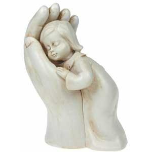 Figurine Fillette dans une main 10cm