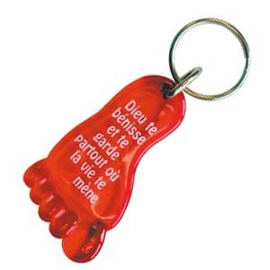 Porte-clés Pied rouge