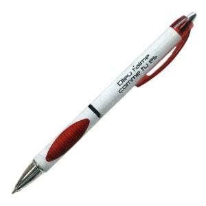 Stylo à bille rouge Dieu t'aime... Ecriture noire