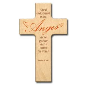 Croix en bois Anges