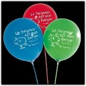 Ballon à gonfler : Le seigneur est mon berger (paquet de 10)
