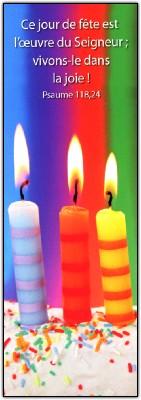 Signet Bougies multicolores.