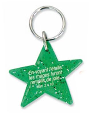 Porte-clés étoile vert Matt. 2v10.