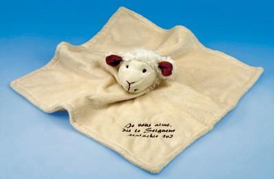 Doudou mouton 30x30 cm Malachie 1v2