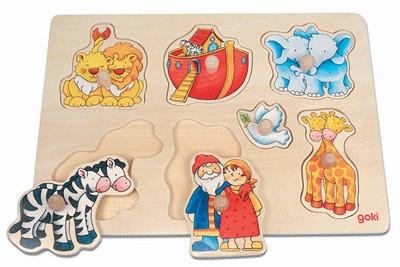 Puzzle bois Arche de Noé (7 pièces)30x21cm