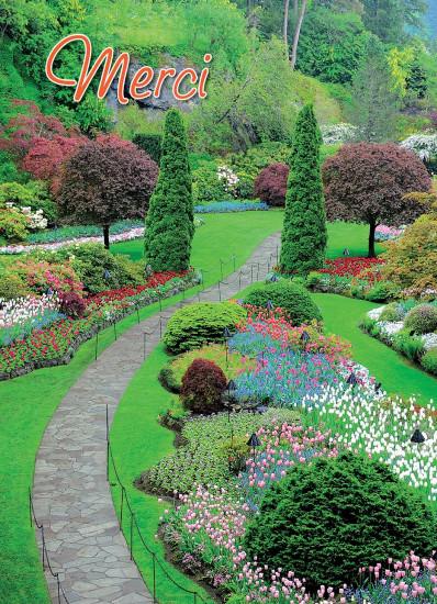 Mini Carte Chemin dans jardin (Merci)