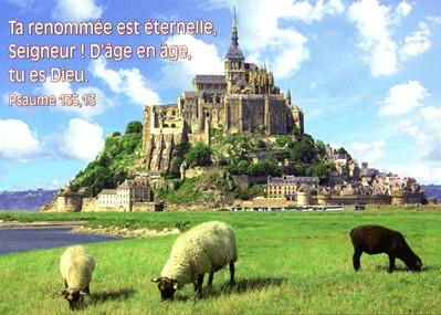 Carte Avec Verset Mont St Michel