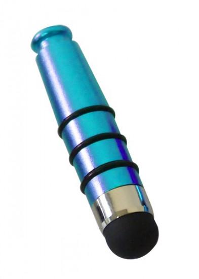 Mini stylet tactile bleu métallique 4cm
