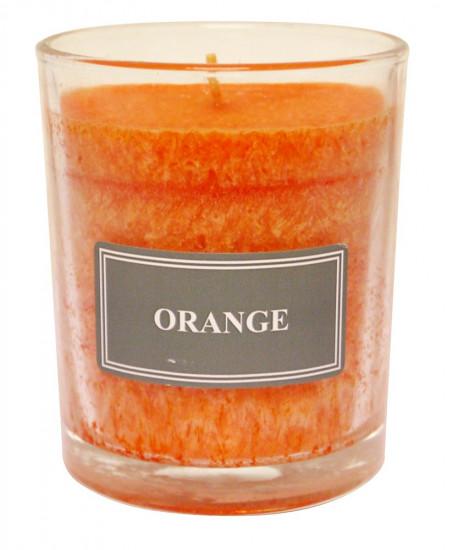 Bougie parfumée orange Hauteur 8 cm d 6.5cm Que Dieu te...