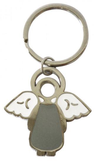 Porte-clés ange gris en mé dimensions: 5x5cm
