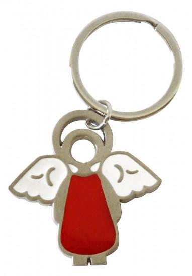 Porte-clés ange rouge en médimensions:  5x5cm
