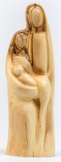 Figurine Sainte famille en bois d'olivier 16cm