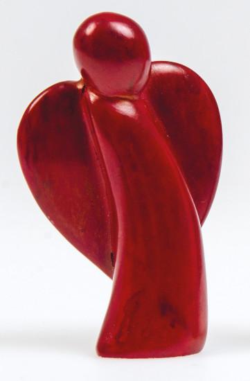 Figurine Ange pierre rouge 6.5cm