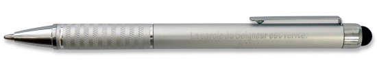 Stylo métal gris avec embout tactile Ps 33v4