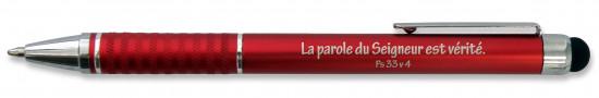 Stylo métal rouge avec embout tactile Ps 33v4