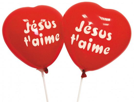 Ballons à gonfler en forme coeur (paquet de 10)