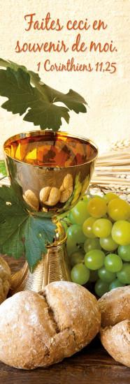 Signet Coupe, pain, raisin et épis de blé